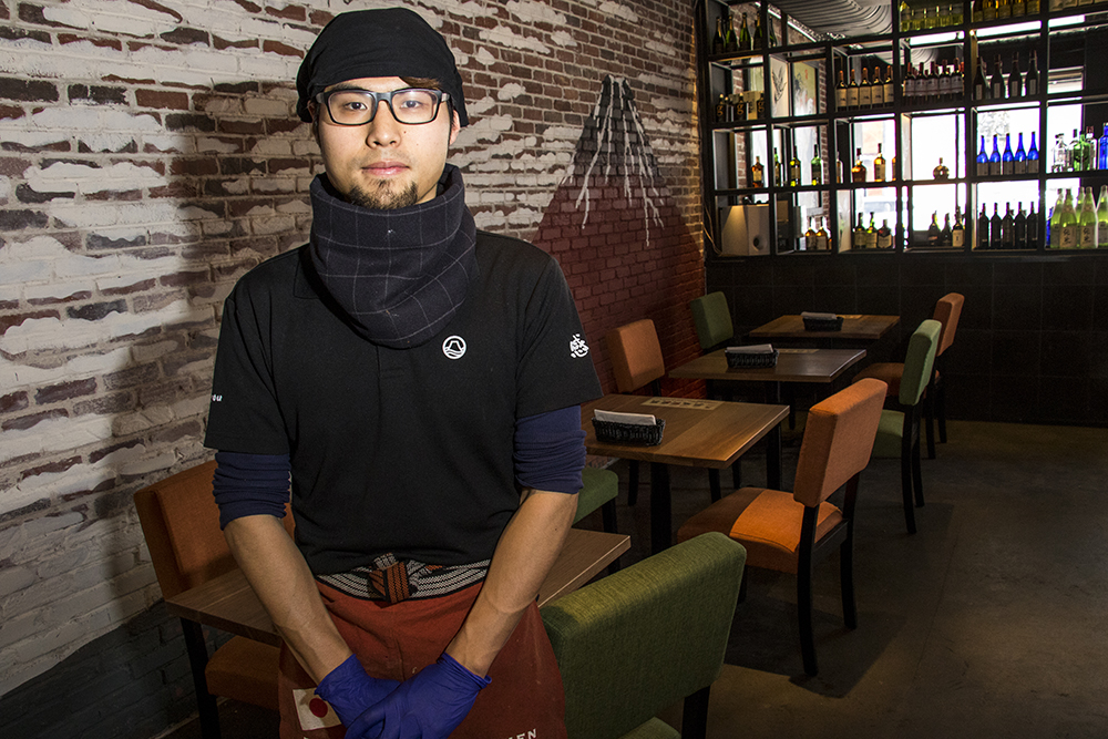 Mitsuru Saito, Kazan Ramen's head chef, Feb. 16, 2018. (Kevin J. Beaty/Denverite)  food; restaurant; tennyson; berkeley; denver; denverite; kevinjbeaty; colorado;
