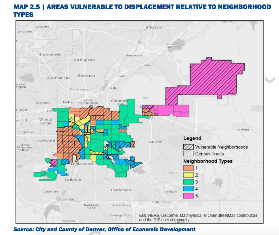 "A map included in ""Housing an Inclusive Denver."""