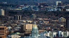 The Colorado State Capitol seen from 1144 Fifteenth, March 22, 2018. (Kevin J. Beaty/Denverite)