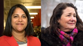 Saira Rao (left) and U.S. Congresswoman Diana DeGette. (Kevin J. Beaty/Denverite)