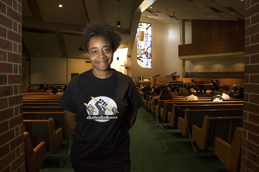 LeRita Cavness poses for a portrait during the Black Parent Empowerment Summit at Shorter Community AME Church, May 12, 2018. (Kevin J. Beaty/Denverite)  denver; colorado; denverite; education; shorter community ame church; activism; kevinjbeaty; skyland;