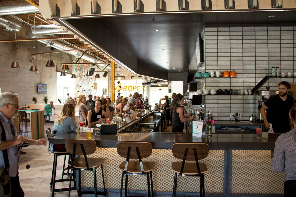 Improper City hosts a soft opening in their new RiNo location. Five Points, July 9, 2018. (Kevin J. Beaty/Denverite)