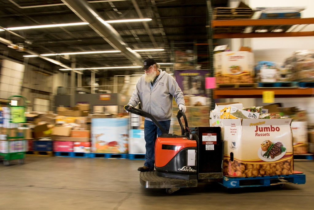 Food Bank of the Rockies' warehouse in Aurora, Nov. 13, 2018. (Kevin J. Beaty/Denverite)
