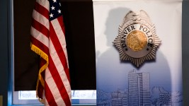 Denver Police Chief Paul Pazen addresses the press about a recent shooting downtown, Nov. 20, 2018. (Kevin J. Beaty/Denverite)