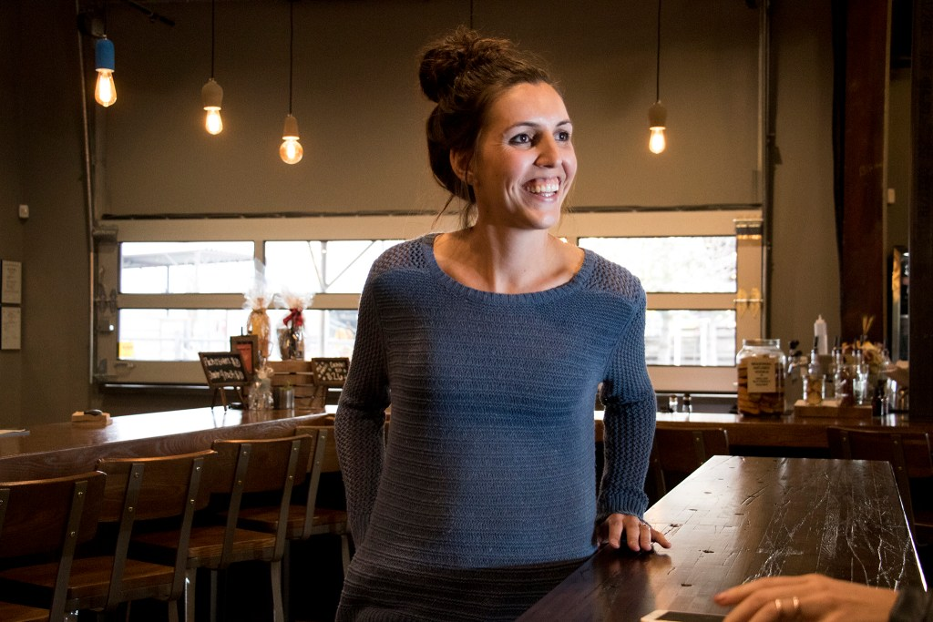 Ironton Distillery and Crafthouse co-founder Kallyn Peterson inside their Five Points taproom, Nov. 28, 2018. (Kevin J. Beaty/Denverite)