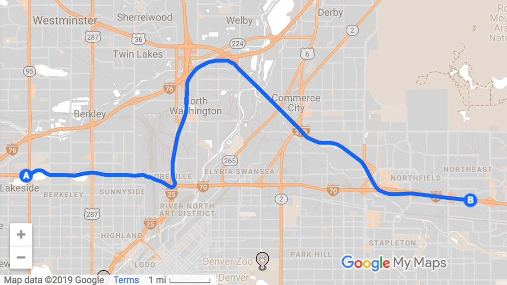 Here's how traffic will be rerouted around I-70 construction the night of January 4th.