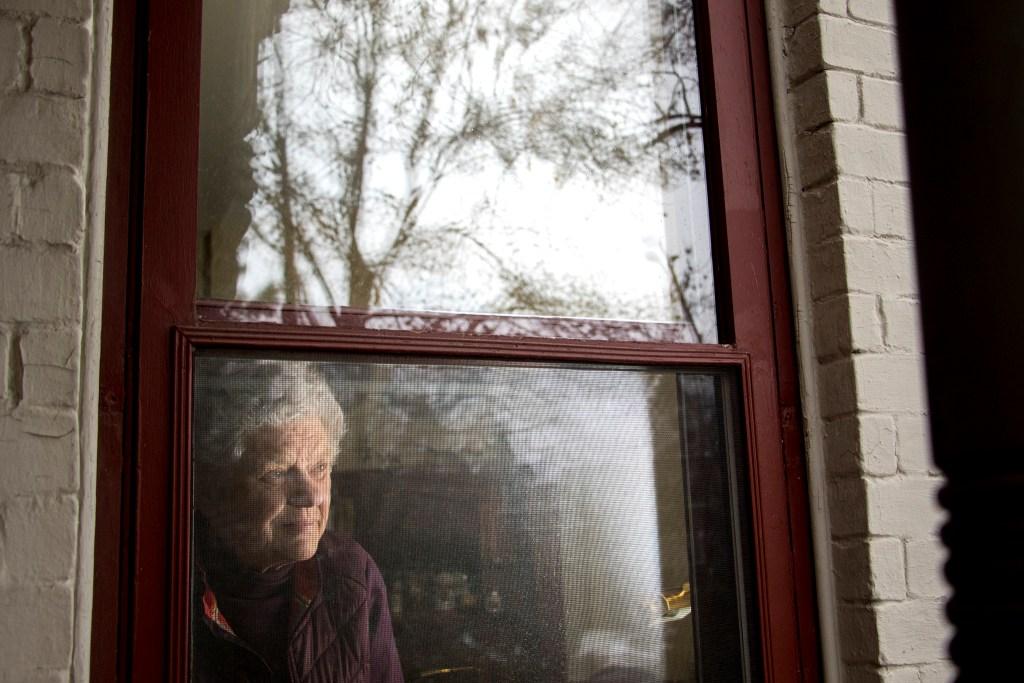 Gertie Grant poses for a portrait in her home in Denver's Speer neighborhood, Jan. 11, 2019. (Kevin J. Beaty/Denverite)