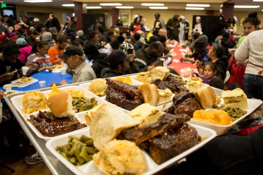 Volunteers of America hosts their annual Martin Luther King Jr. Day dinner, Jan. 21, 2019. (Kevin J. Beaty/Denverite)