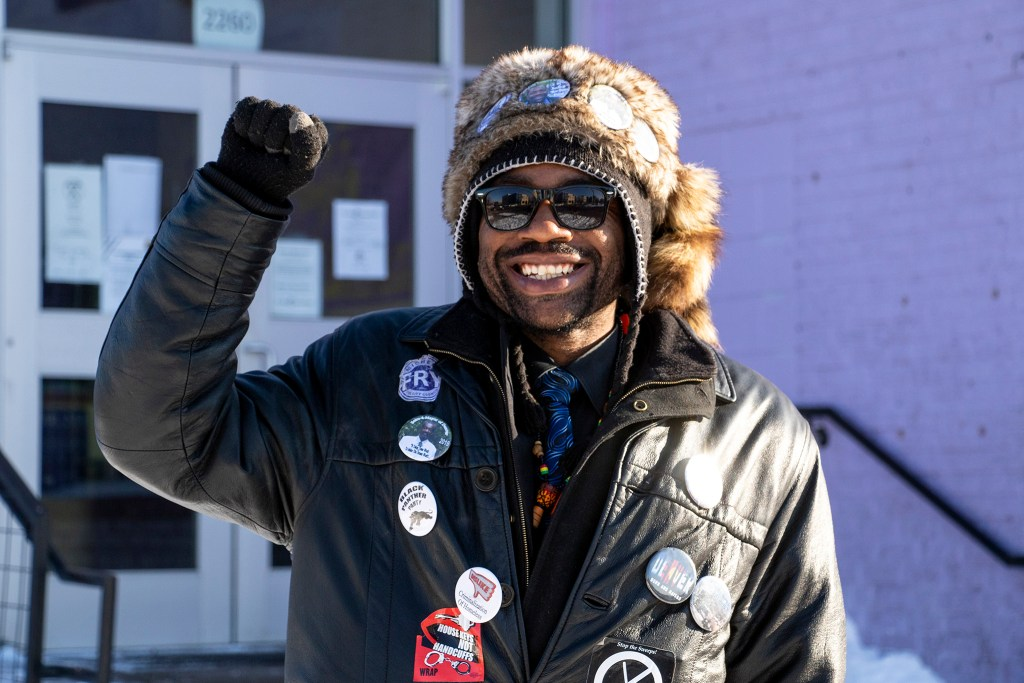 City Council At-Large candidate Jesse Parris poses for a portrait in front of Centro Humanitario in Five Points, March 4, 2019. (Kevin J. Beaty/Denverite)