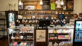 Simply Pure dispensary in Denver's Highland neighborhood, March 19, 2019. (Kevin J. Beaty/Denverite)