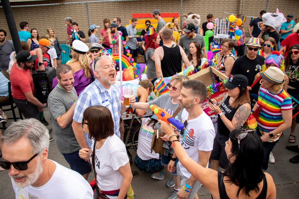 Call to Arms Brewing and other craft breweries hold their own PrideFest on Tennyson Street, June 15, 2019. (Kevin J. Beaty/Denverite)