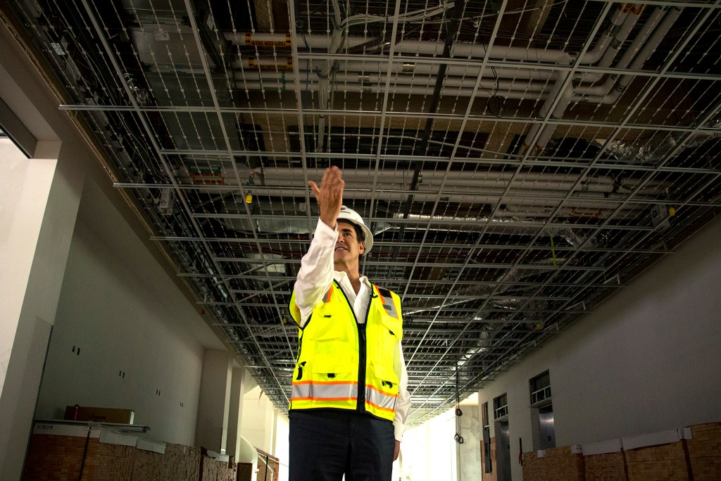 Christoph Heinrich, the Denver Art Museum's Frederick and Jan Mayer Director, gives a tour of the Denver Art Museum's new campus during construction, Aug. 8, 2019. (Kevin J. Beaty/Denverite)