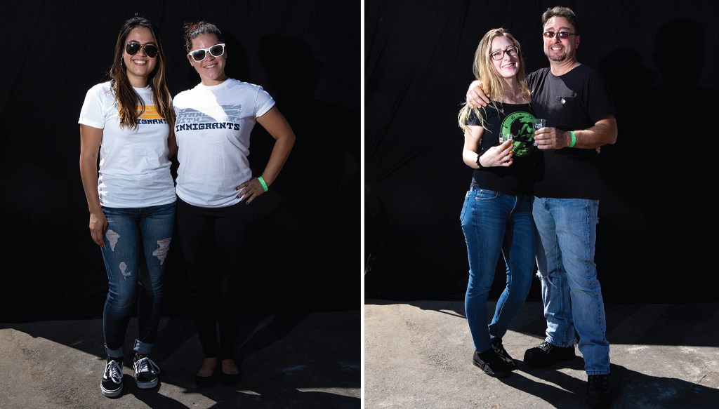Ivette Morataya and Kaytia King and Halee and Aaron Clementi. Suave Fest, by the future site of Raices Brewing; Sept. 14, 2019. (Kevin J. Beaty/Denverite)