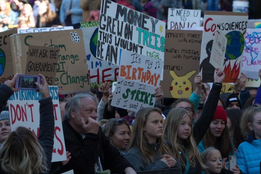 Swedish environmental activist Greta Thunberg headlined a Denver protest against climate change in Civic Center Park on Friday Oct. 11, 2019.