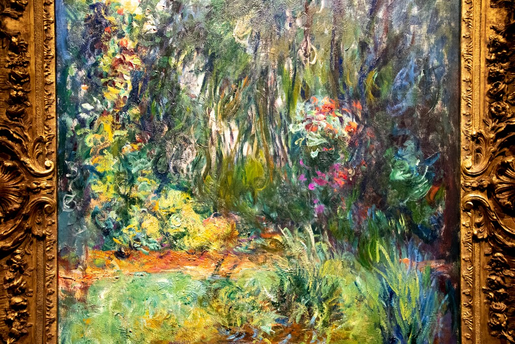 """The Water-Lily Pond"" on display in the Denver Art Museum's ""Claude Monet: The Truth of Nature"" exhibit Oct. 17, 2019. (Kevin J. Beaty/Denverite)"