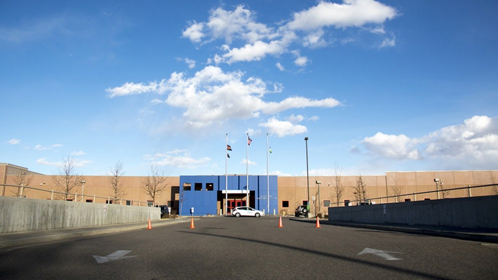 GEO's Aurora Contract Detention Facility. Feb. 25, 2019. (Kevin J. Beaty/Denverite)