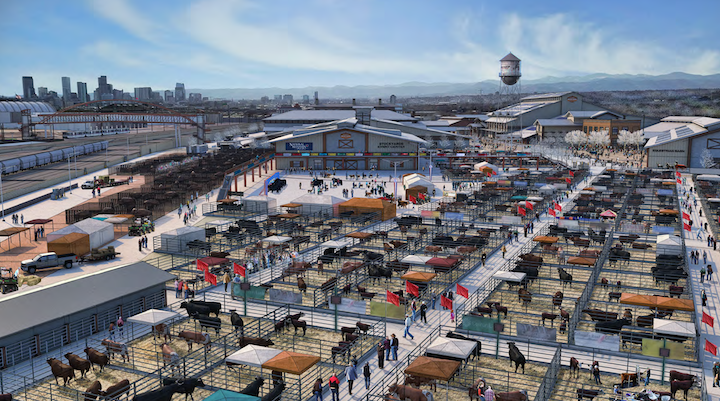 A rendering of the stockyards at the National Western Center. (Courtesy, City and County of Denver)