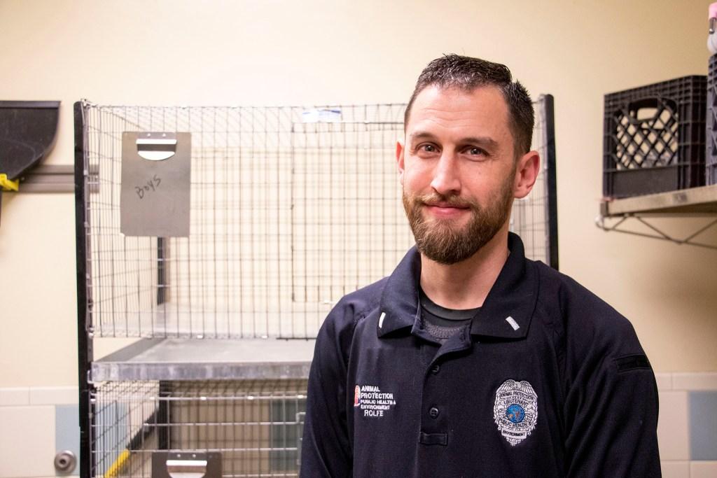 Denver Animal Shelter's Lieutenant Josh Rolfe poses for a portrait, Jan. 10, 2020. (Kevin J. Beaty/Denverite)