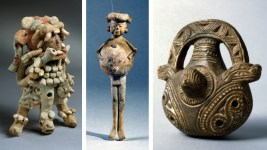 """Artwork from the upcoming exhibit """"Rhythm and Ritual: Music of the Ancient Americas"""" on display at Museo de las Americas. (Photos courtesy of Denver Art Museum)"""