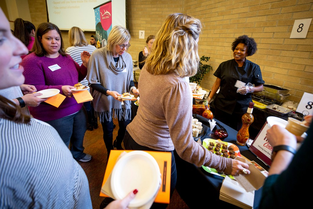 A speed tasting event at the University of Denver's Schiol of Social Work. Feb. 25, 2020. (Kevin J. Beaty/Denverite)