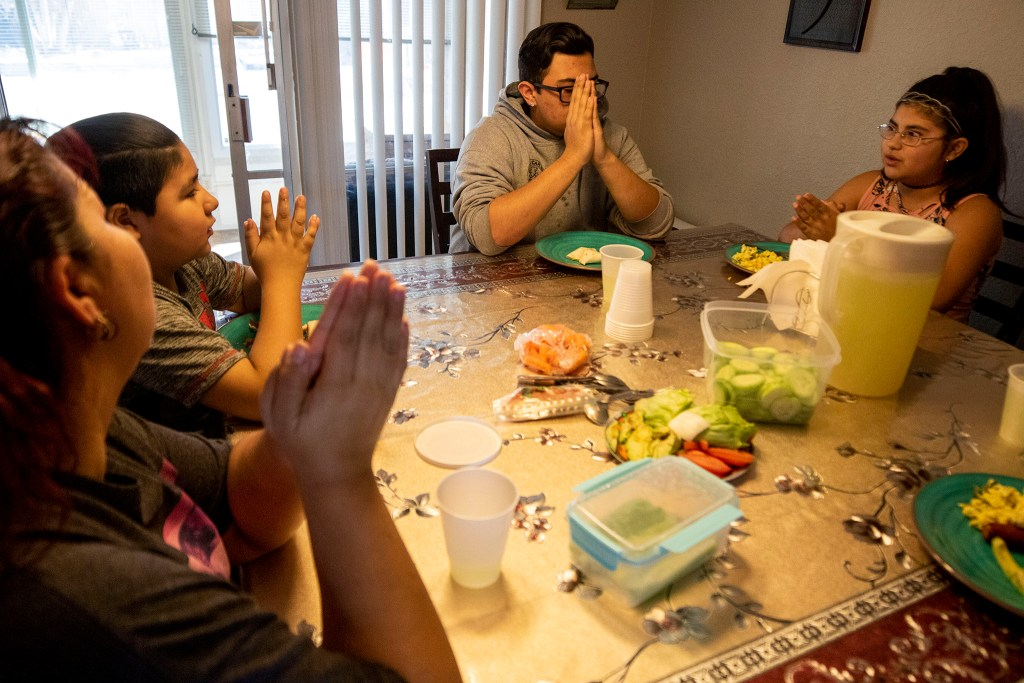 Lunchtime in the Zaldivar home. March 7, 2020. (Kevin J. Beaty/Denverite)