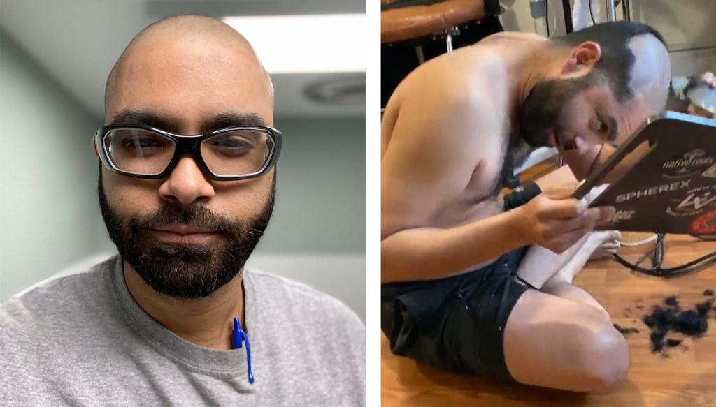 Rene Cruz cut his own hair. (Courtesy: Rene Cruz)