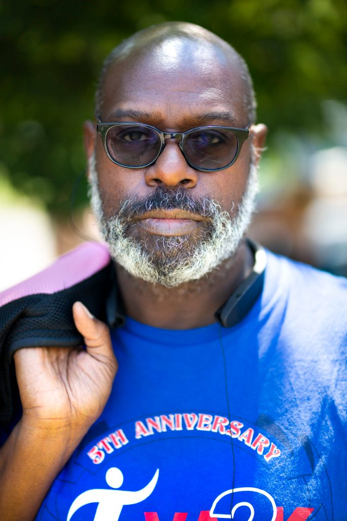 Thomas Booth at the Juneteenth celebration in Denver on June 13, 2020.
