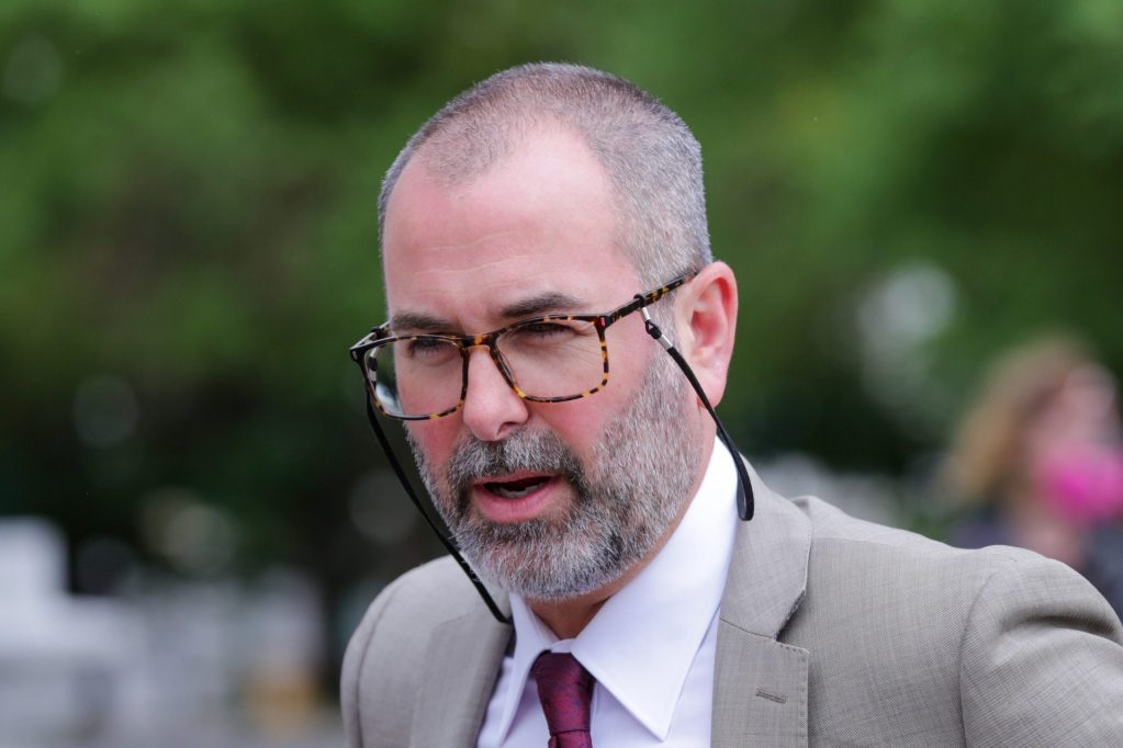 DeBose family attorney Birk Baumgartner outside the Capitol Thursday June 18, 2020.