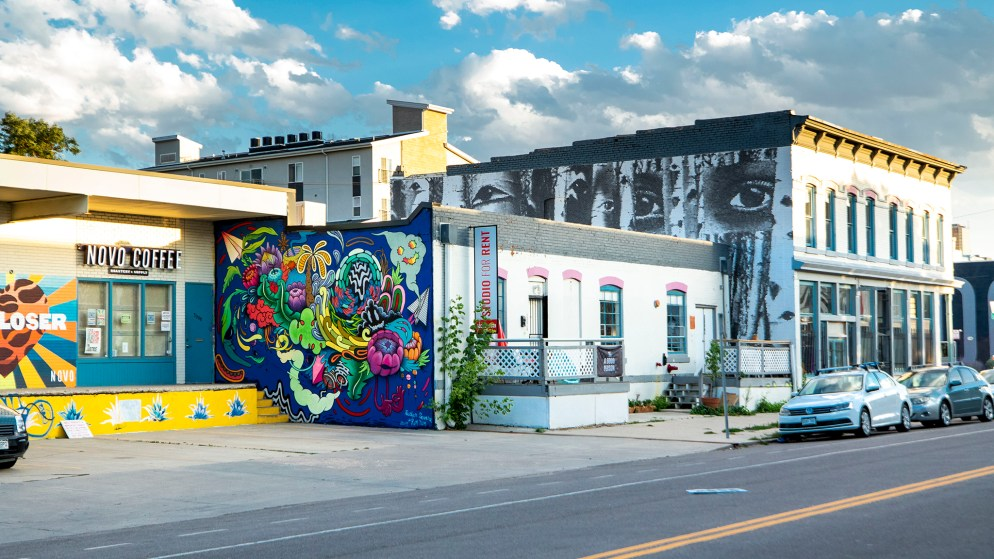 Two of Olive Moya's favorite Denver murals are on the Dateline Gallery building, 3004 Larimer St. July 29, 2020.