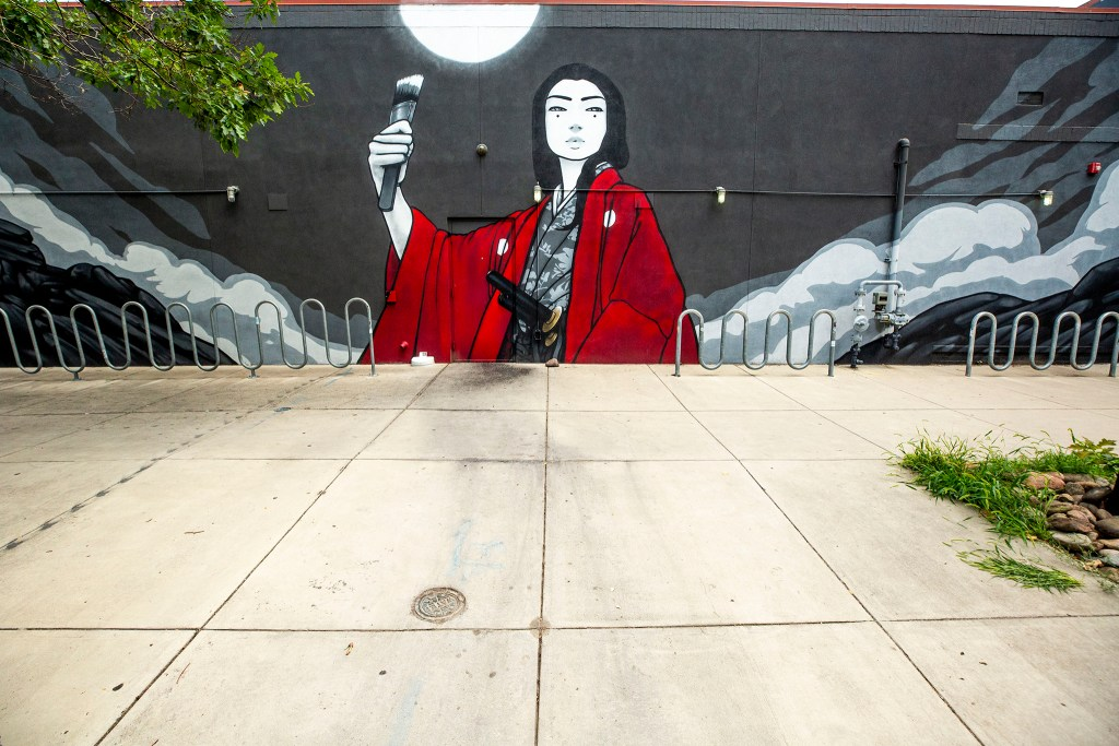 A mural by Casey Kawaguchi on the side of Ace Eat Serve, 501 E. 17th Ave. in North Capitol Hill. Aug. 5, 2020.