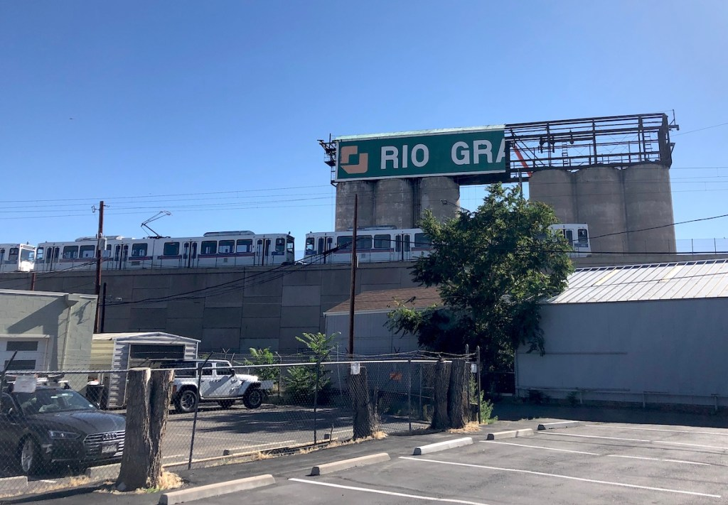 What's left of the Rio Grande Sign at 123 Santa Fe Dr. in Baker on August 7, 2020.