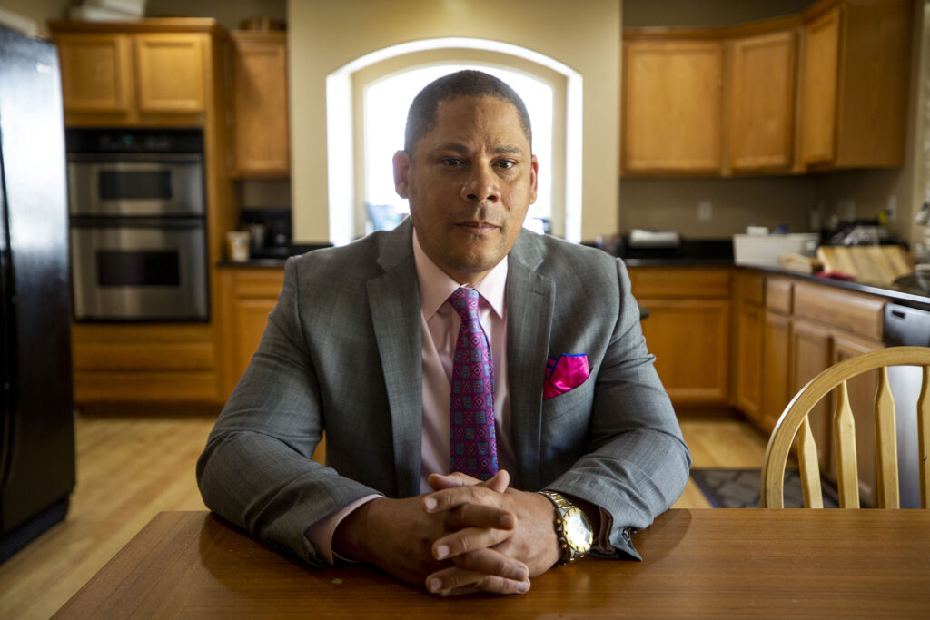 Pastor Robert Davis, vice president of the Greater Metro Denver Ministerial Alliance and leader of a new task force to transform Denver policing.  4th September 2020.