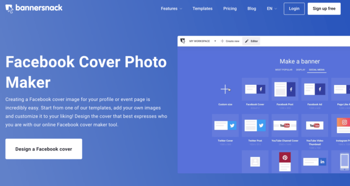 Bannersnack Facebook Cover Photo Maker and Template