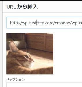 URLから挿入