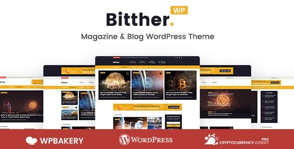 Bitther 1.0.3 — тема WordPress для блога о криптовалюте