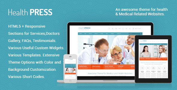 HealthPress 1.7.2 — Медицинская WordPress тема