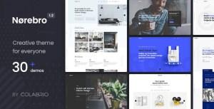 Norebro — креативная портфолио тема WordPress для многоцелевого использования