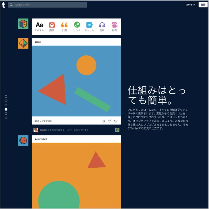 無料ブログ・タンブラー・tumbler・仕組みはとっても簡単【TORU CHANG DESIGN】WordPress・ホームページ・デザイン企画・制作・富山