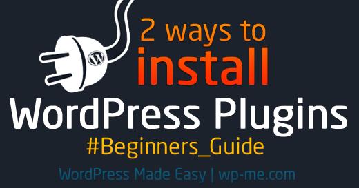 2 ways to install WordPress Plugins