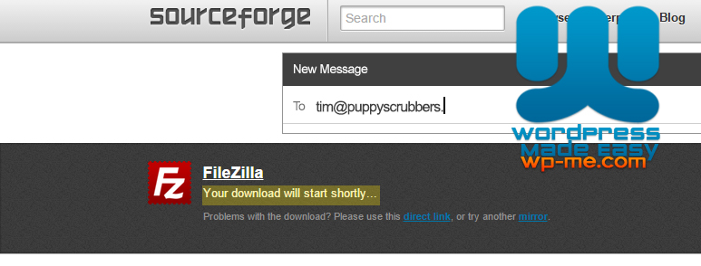 Download FileZilla from SourceForge