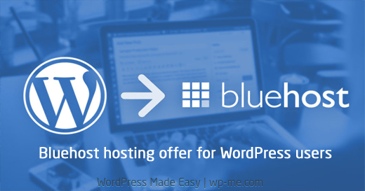 Bluehost hosting offer for WordPress users