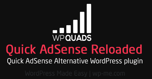 WPQUADS: Quick AdSense Reloaded