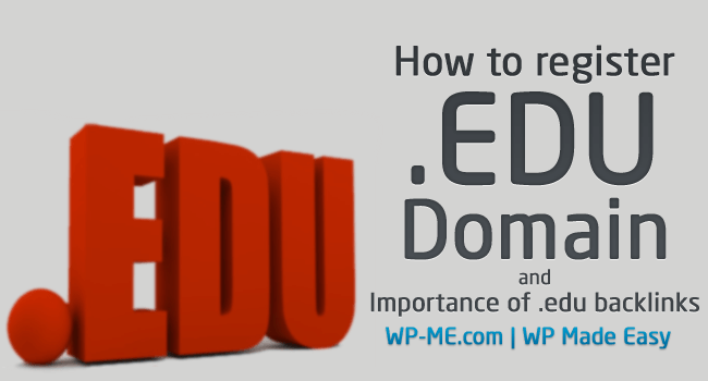 How to Register a .EDU Domain & Importance of EDU Backlinks for SEO