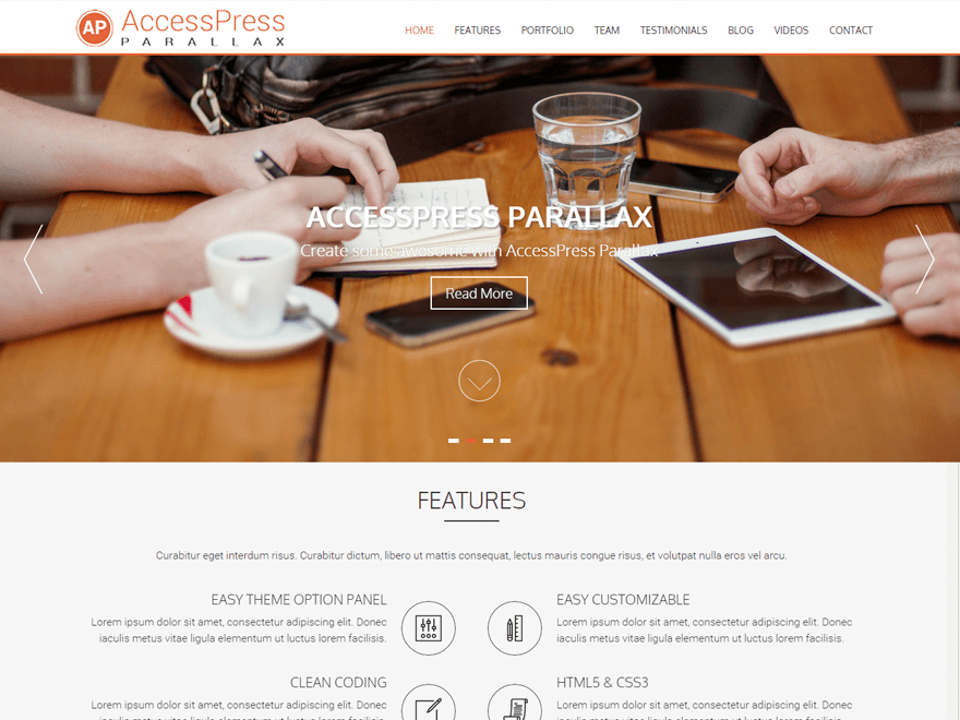 AccessPress Parallax Free WordPress Theme