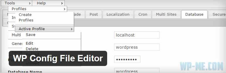 WP Config File Editor WordPress plugin