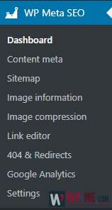 WP Meta SEO menu section