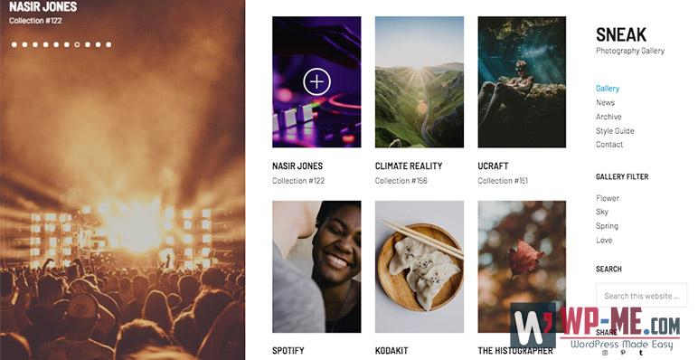 Sneak Photography WordPress Theme