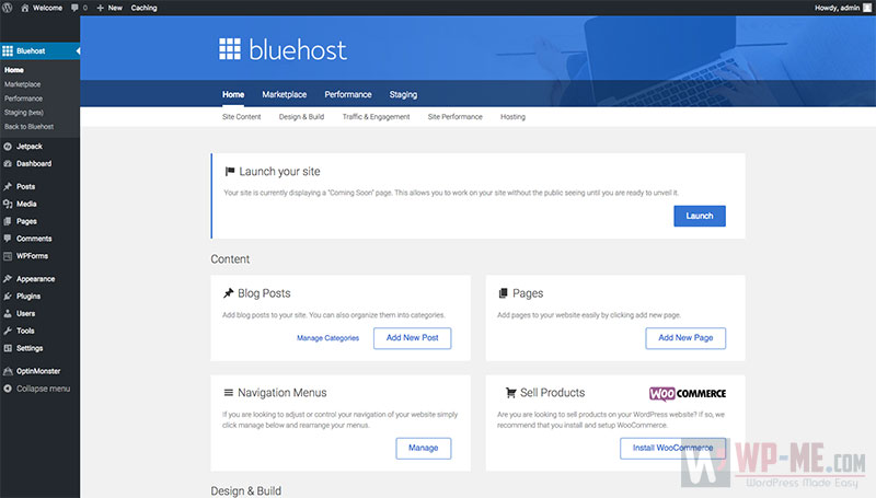 Start a WordPress blog - Bluehost WordPress Tools