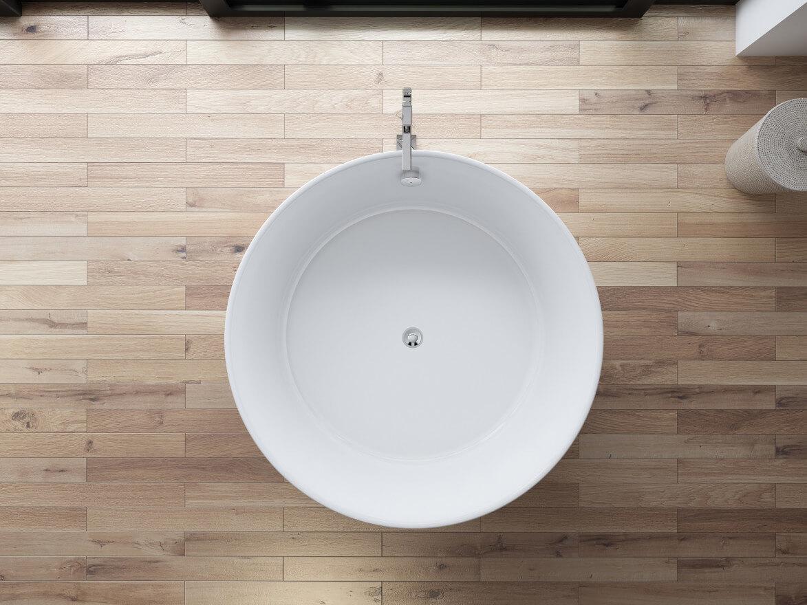baignoire ilot ovale loom l 130 x l