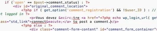 Traduire Thème WordPress - Avec code HTML